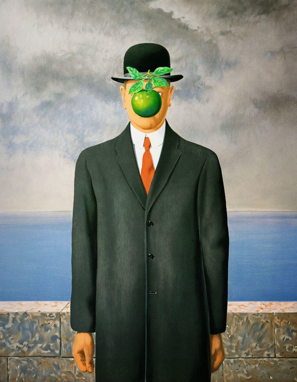 Rene Magritte-La Bataille de L/'Argonne with border -2012 Poster